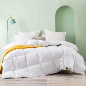 Topllen King All Season 100% Cotton Hypoallergenic Down Comforter for $81
