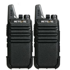 Retevis RT22 2-way radios Long Range Walkie Talkies for $27