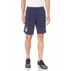 PUMA Men's FIGC Training Shorts W.Z/P, Peacoat Team Gold, S for $15
