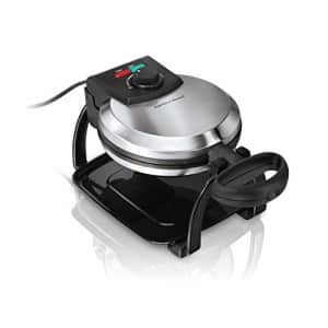 Hamilton Beach Flip Belgian Waffle Maker with Browning Control, Non-Stick Grids, Indicator Lights, for $58