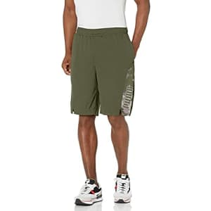"""PUMA Men's Train 10"""" Session Shorts, Thyme, S for $31"""