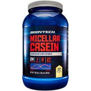 BodyTech Micellar Casein Protein Powder, Slow Release for Overnight Muscle Recovery 24 Grams of for $30
