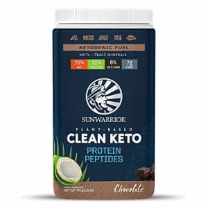 Sunwarrior Clean Keto Vegan Protein Powder with MCT Oil, Essential Vitamins, and Plant-Based for $22