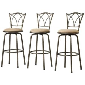 Home Decorators Collection Double Cross-Back Adjustable Bar Stool: 3 for $121 or 6 for $217