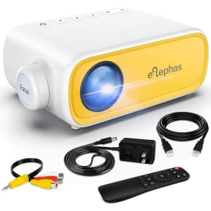 Elephas Portable Mini Projector for $48