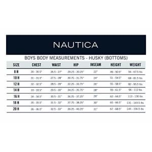 Nautica Boys School Uniform Jogger Short, Lowell Khaki, 10 Husky for $38