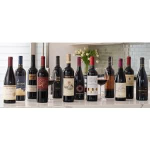 WSJwine Top Wine Special: 14-Bottle Wine Case w/ 2 Glasses for $70