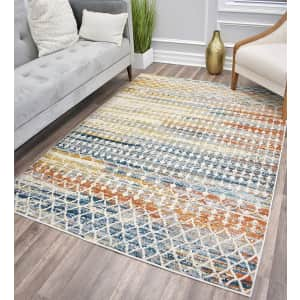 Manhattan Collection 5x7-Foot Area Rug for $70