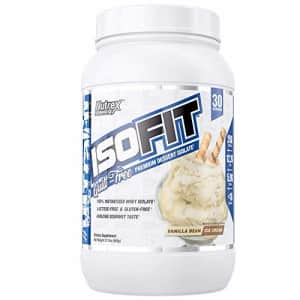 Nutrex Research IsoFit | Whey Protein Powder Instantized 100% Whey Protein Isolate | Muscle for $40