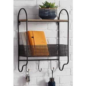StyleWell Metal Wall Organizer w/ Basket for $33
