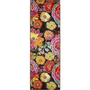 Unique Loom Lyon Collection Floral Runner Rug for $100