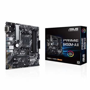 ASUS Prime B450M-A II AMD AM4 (Ryzen 5000, 3rd/2nd/1st Gen Ryzen Micro ATX Motherboard (128GB DDR4, for $68
