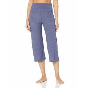 Splendid Women's Studio Activewear Workout Crop Pants with Two Outer Pockets, Academy Navy, S for $14