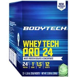 BodyTech Whey Tech Pro 24 Protein Powder Protein Enzyme Blend with BCAA's to Fuel Muscle Growth for $10