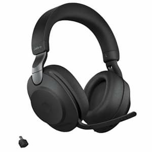 Jabra Evolve2 85 MS Wireless Headphones with Link380c, Stereo, Black Wireless Bluetooth Headset for for $440