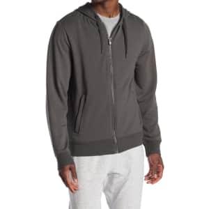 90 Degree by Reflex Men's Fleece-Lined Full-Zip Hoodie for $19