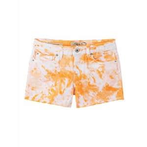 Lucky Brand Girls' Fashion Denim Shorts, Delaney Tie Dye Cantaloupe, 8 for $27