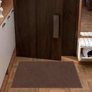"""Ottomanson Ottohome Collection Solid Design Runner Rug, 2'3"""" X 3', Brown Solid for $23"""