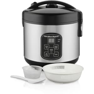 Hamilton Beach 8-Cup Digital Programmable Rice Cooker for $33
