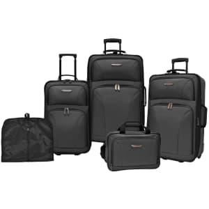 Traveler's Choice Ultimate 5-Piece Wheeled Luggage Set for $100