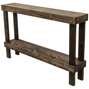 """Del Hutson Designs Rustic Luxe 59"""" Solid Wood Console Table for $97"""