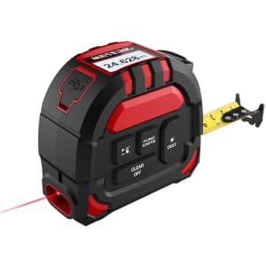 Meterk 2-in-1 Laser Tape Measure for $28