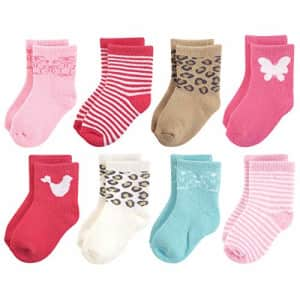 Luvable Friends Baby Fun Essential Socks, Whimsical, 12-24 Months for $12