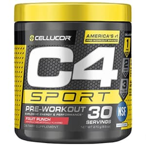Cellucor C4 Sport Pre Workout Powder Fruit Punch | NSF Certified for Sport + Preworkout Energy Supplement for $17