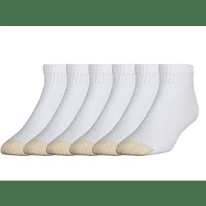 Gold Toe Men's 656p Cotton Quarter Athletic Socks 6-Pack for $26
