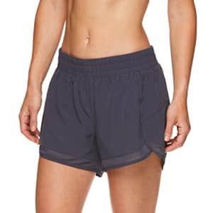 Gaiam Women's Warrior Yoga Short - Bike & Running Activewear Shorts - 3 Inch Inseam - Odyssey Gray for $36