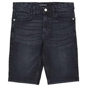 Calvin Klein Boys' Stretch Denim Short, S21 Logo Boston Blue, 6 for $18