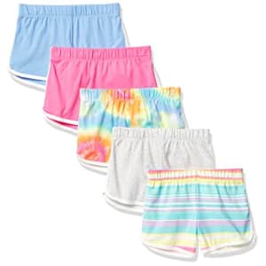 The Children's Place Girls Dolphin Shorts 5-Pack, in The Pink, XS (4) for $22