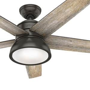 Hunter Fan 52 inch Contemporary Noble Bronze Indoor Ceiling Fan with Light Kit and Remote Control for $148