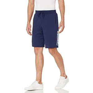 PUMA Men's Summer Court Graphic Shorts, Peacoat, XX-Large for $28