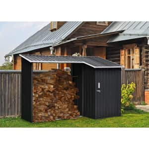 Hanover Shed with Firewood Storage for $363