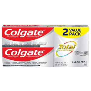 Colgate Total Toothpaste 4.8-oz. 2-Pack for $5.15 via Sub & Save