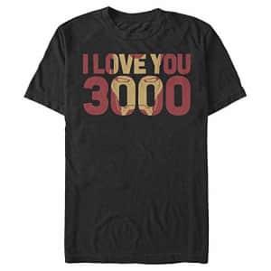 Marvel Men's T-Shirt, Black, XXX-Large for $20