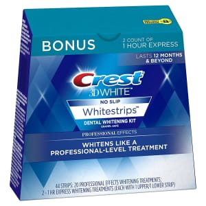 Crest 3D White Professional Effects Whitestrips 20 Treatments for $38