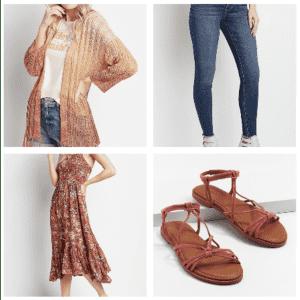Dresses, Cardigans, Sandals, & Jeggings at Maurices: Buy 1, get 50% off 2nd