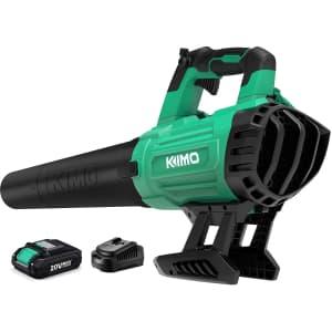 Kimo 20V Cordless Leaf Blower for $120