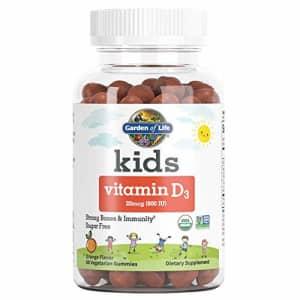 Garden of Life Kids Organic Vitamin D3 Gummies, Orange Flavor - 800 IU (100% DV) for Immunity, for $17