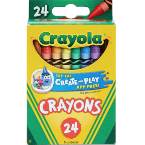 Crayola Crayons 24-Pack for 50 cents