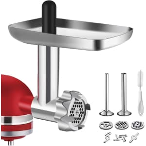 Bqypower Metal Food Grinder Attachment for KitchenAid Stand Mixers for $20