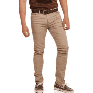 Men's Stretch Twill Skinny Pants for $8
