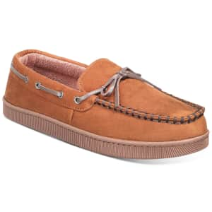 Club Room Men's Moccasin Slippers for $15