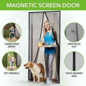 Instant Magnetic Screen Door for $9