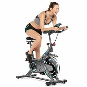 ANCHEER Indoor Cycling Bike, 40 lbs Heavy Flywheel Max 350 lbs Exercise Bike, Belt Drive Stationary for $290
