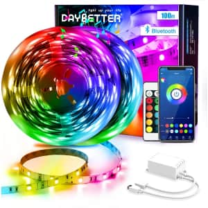 Daybetter 100-Ft. Smart RGB LED Strip Lights for $40