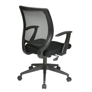 Office Star Woven Mesh Back Task Chair with Fixed Arms and Padded Mesh Seat, Black for $124