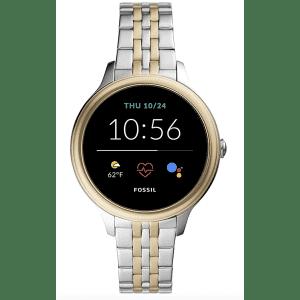 Fossil Women's Gen 5E 42mm Stainless Steel Touchscreen Smartwatch for $130